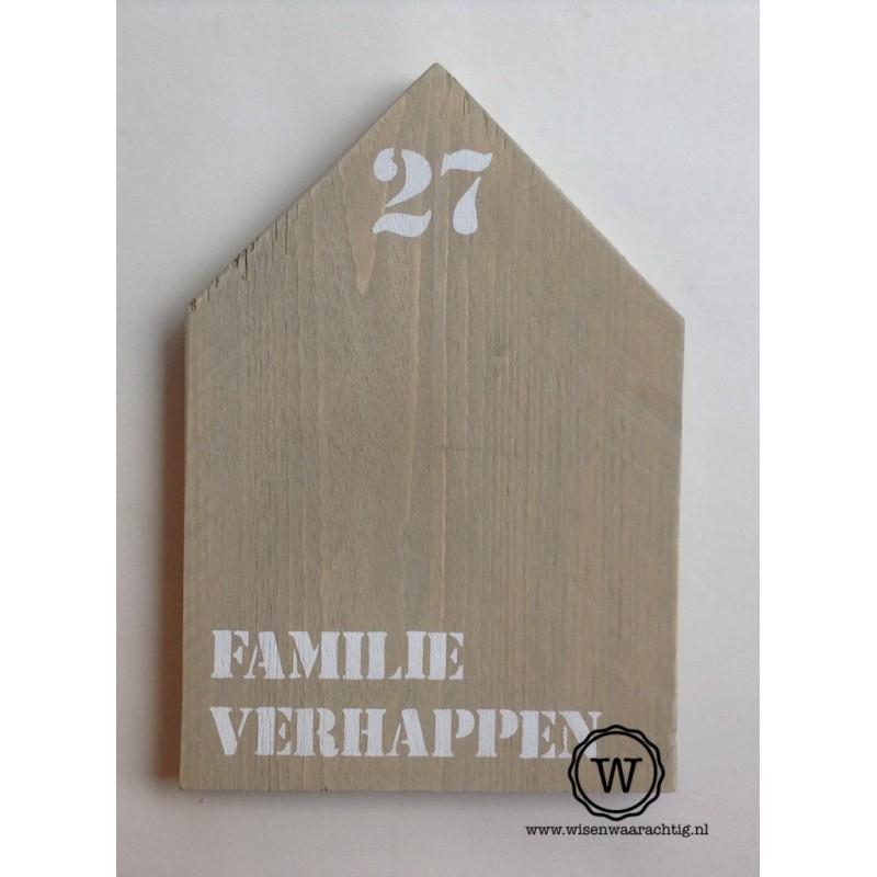 XL huis met naam en huisnummer