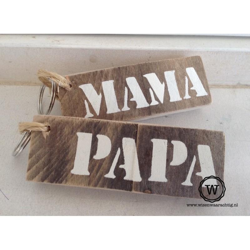Sleutelhanger mama of papa