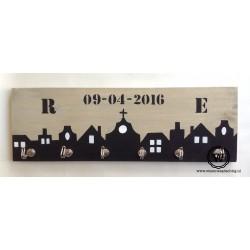 Kapstok huizen met datum