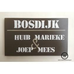 Naambord familie Bosdijk