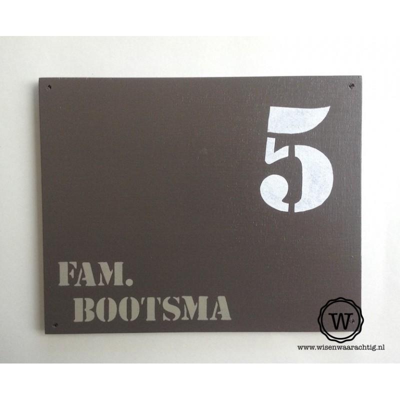 Naambord familie Bootsma