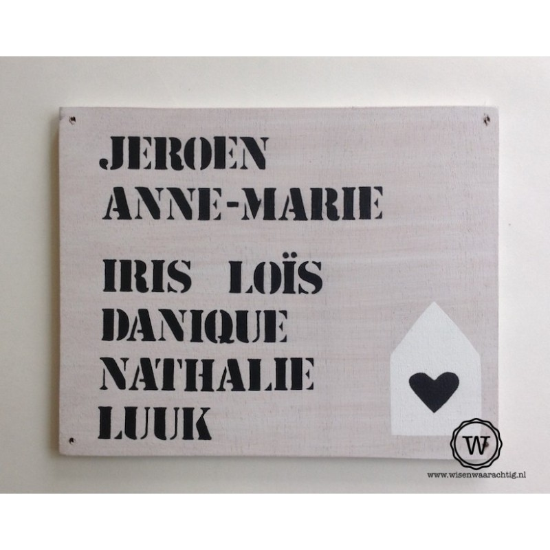 Naambord familie Martens
