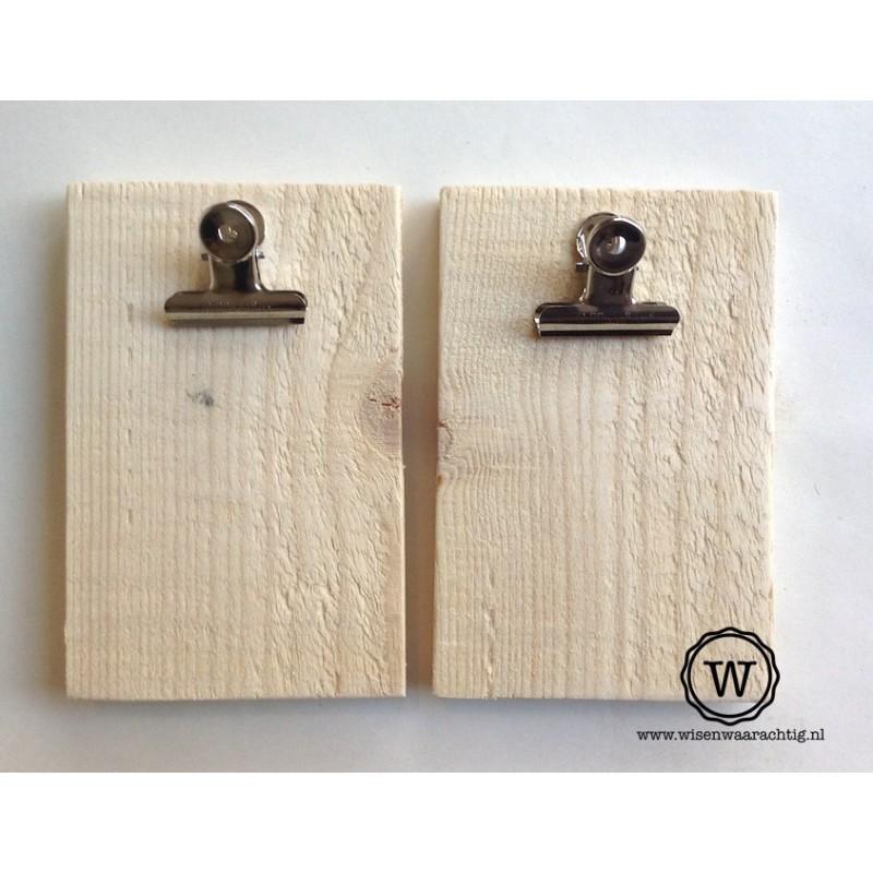 Set van 2 kleine memoborden blank