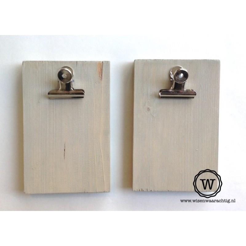 Set van 2 kleine memoborden grey wash
