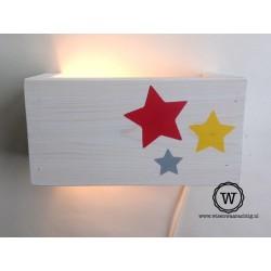 Wandlamp sterren rood/geel