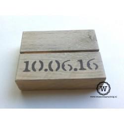 Fotoblokje datum
