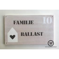 Naambord familie Willems