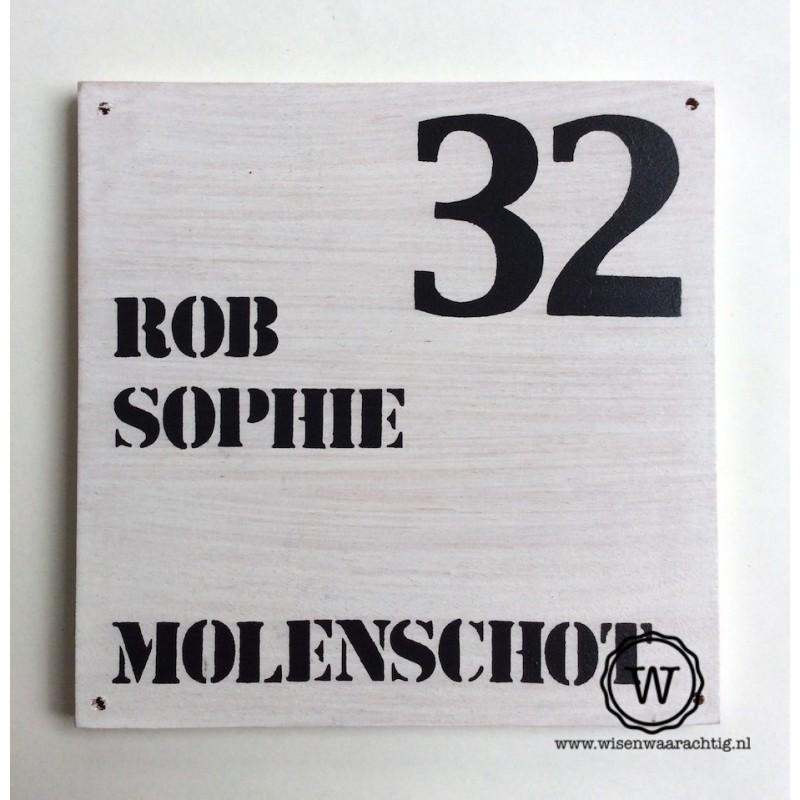 Naambord familie Molenschot