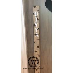 Groeimeter met sterren en naam XL