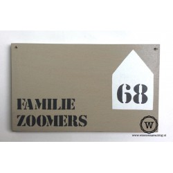 Naambord familie Zoomers