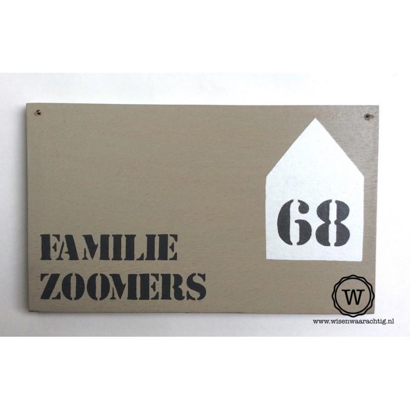 Naambord familie Zoomers