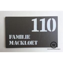 Naambord familie Langens