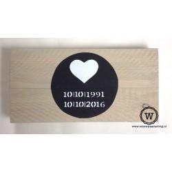 Dienblad houten huwelijk