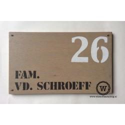 Naambord familie van den Broek