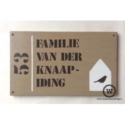 Naambord familie Vogel