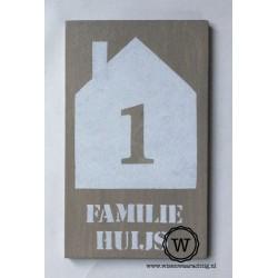 Naambord familie Huijs