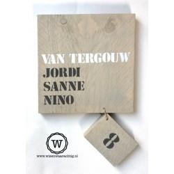 Naambord steigerhout