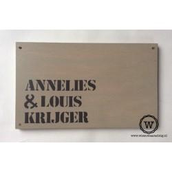 Naambord familie Krijger