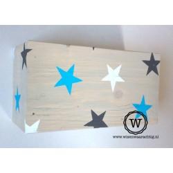 Wandlamp sterren blauw