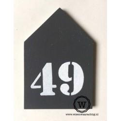 Huisnummer huis antraciet
