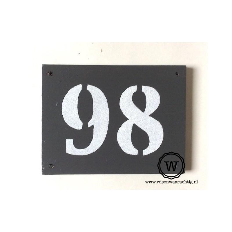 Naambord huisnummer klein