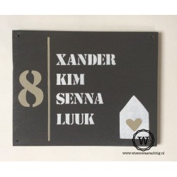 Naambord familie Donkers