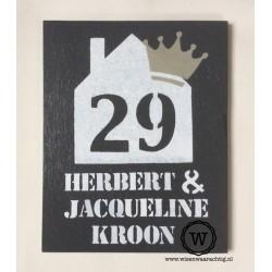 Naambord familie Kroon