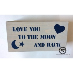 "Wandlamp ""love you to the moon and back"""