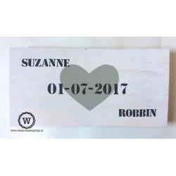 Dienblad steigerhout datum en namen