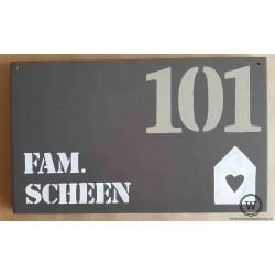 Naambord familie Verbruggen