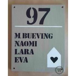 Naambord familie Verhoven