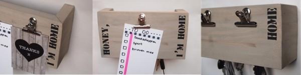 Sleutelkastje steigerhout met naam of tekst | voor het opbergen van al je sleutels | gratis verzending