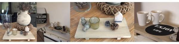 Dienbladen van hout | Gepersonaliseerd en handgemaakt | Wis en Waarachtig